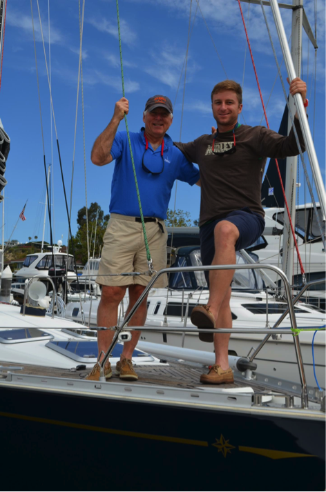 Dick Pace Friend Bub Morgan Sailing El Captain Photo