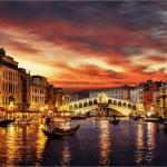 Gondola Ride at Night in Venice Trip To Italy