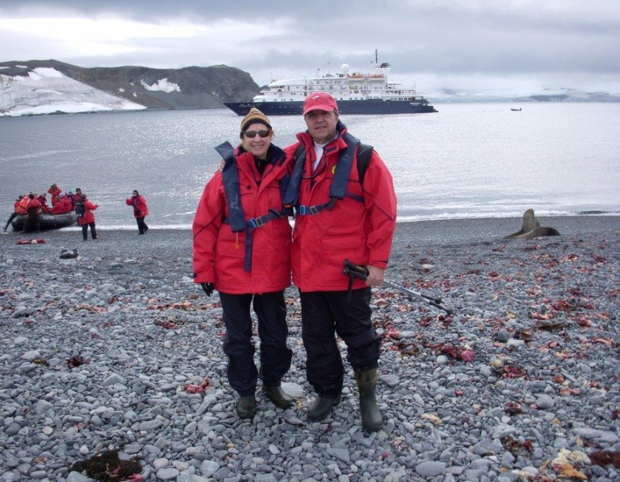 Dick Pace Adventures Antartica with Beautiful Wife