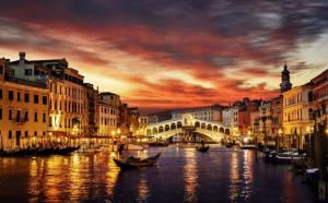 Gondola Ride at Night in Venice